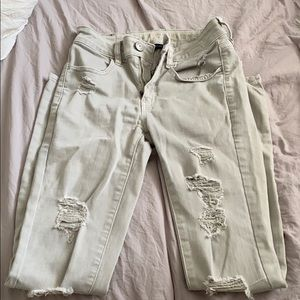 grey american eagle jeans